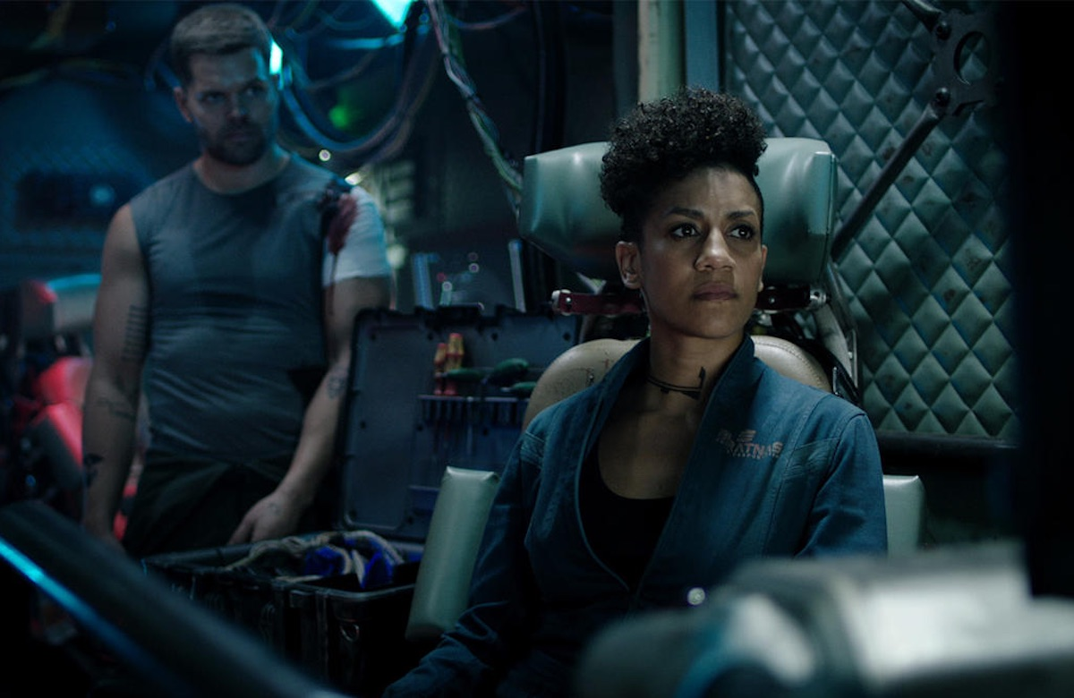 A scene from the dystopian TV show, The Expanse.