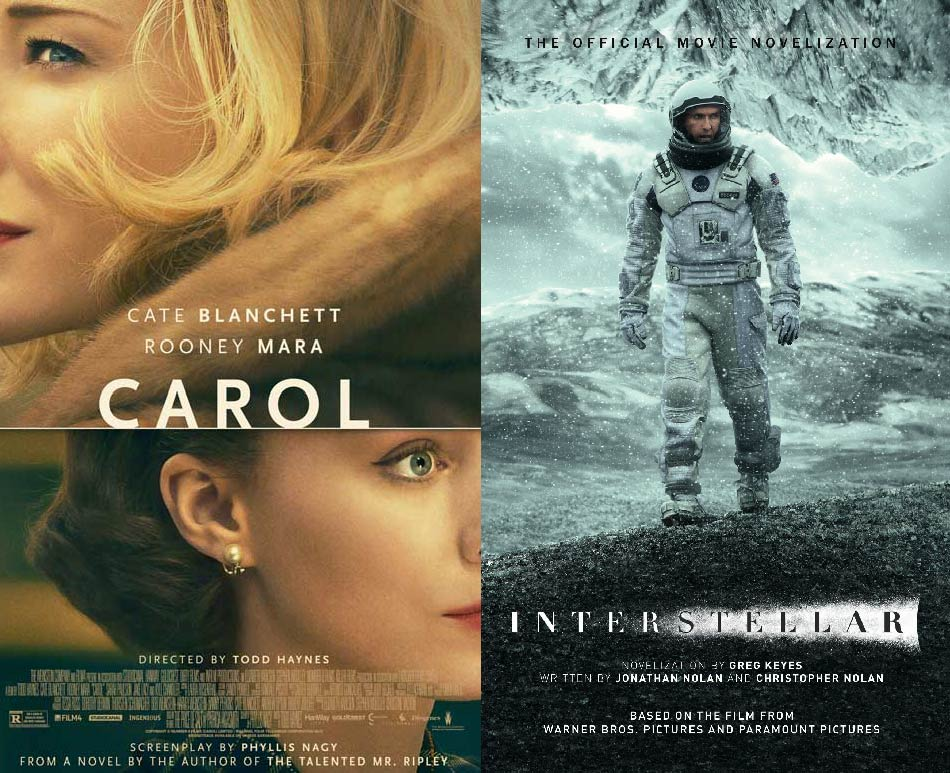 Two movie posters highlight the difference between high concept and low concept.