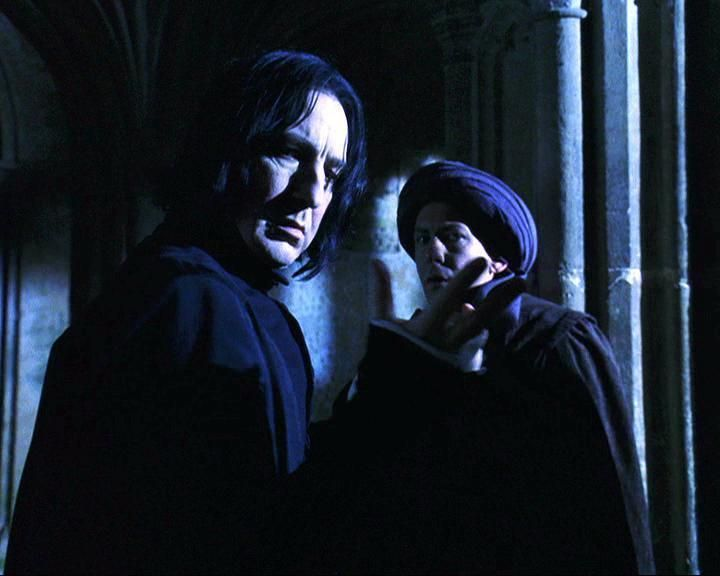 Snape's confrontation of Quirrell in Sorcerer's Stone is not everything it first appears.