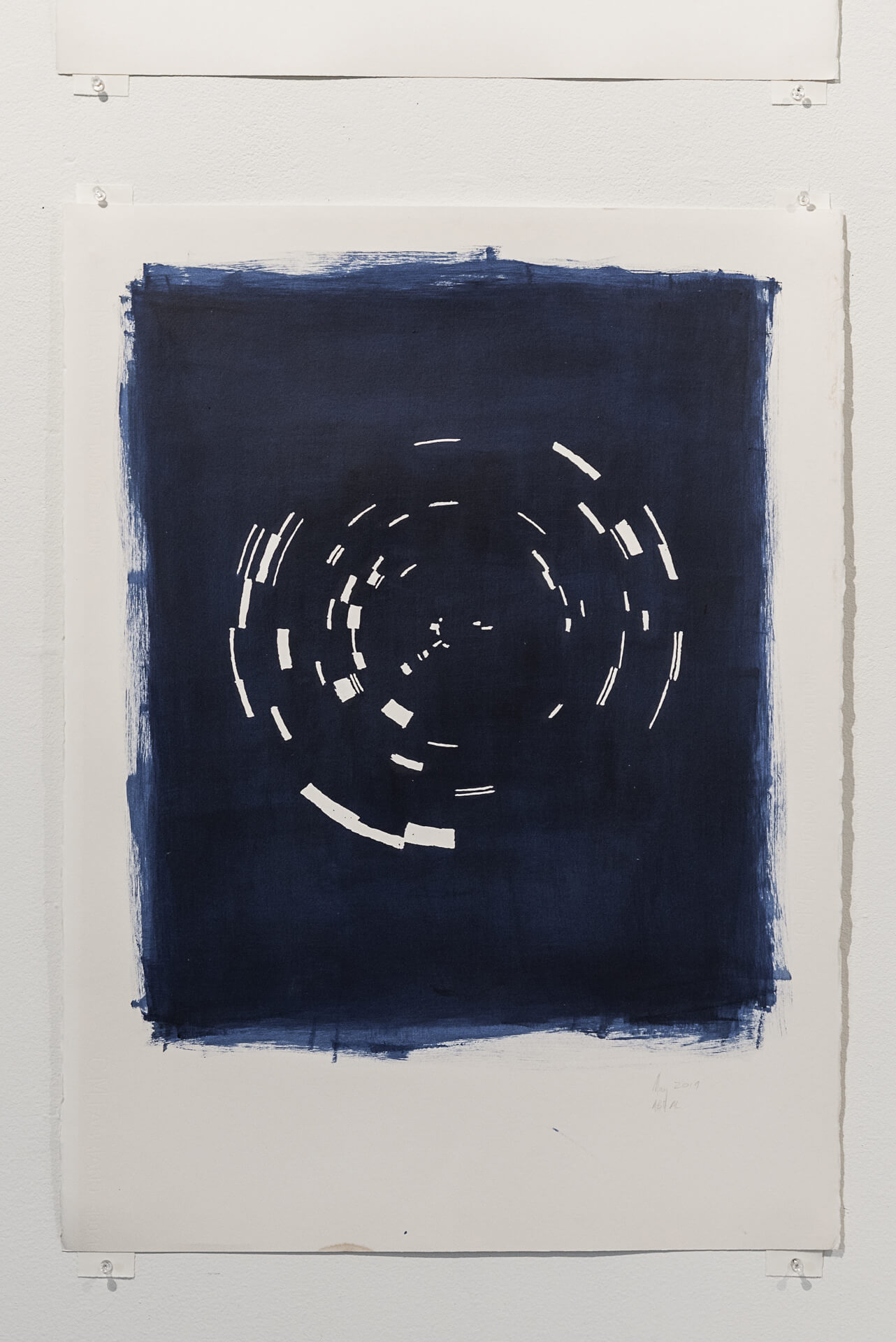 Indigo May 2019   Acrylic on paper, 30 x 22 inches