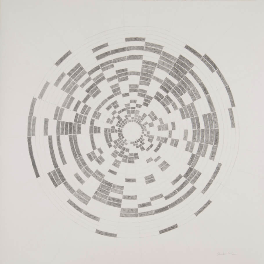 December 2012   graphite on paper, 42 x 42 inches, 2013
