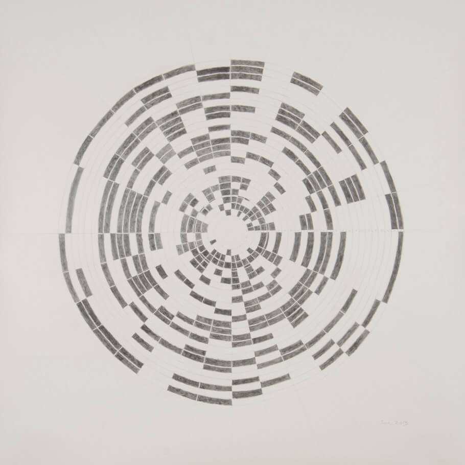 June 2013   graphite on paper, 42 x 42 inches, 2013