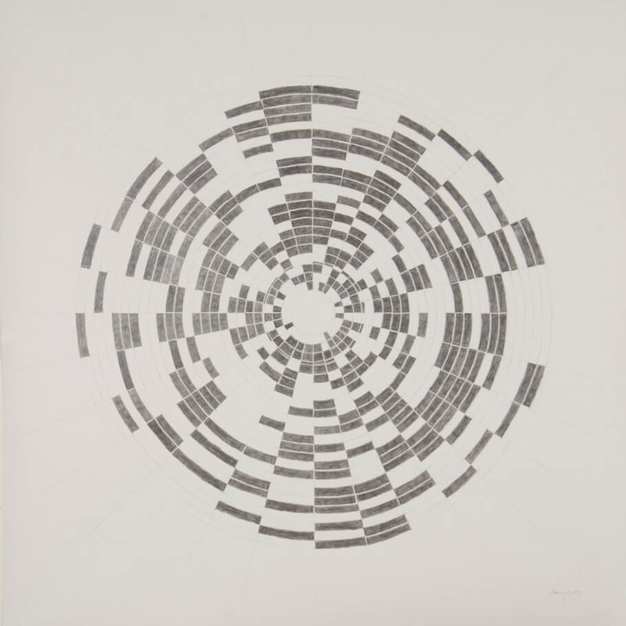 January 2013   graphite on paper, 42 x 42 inches, 2013