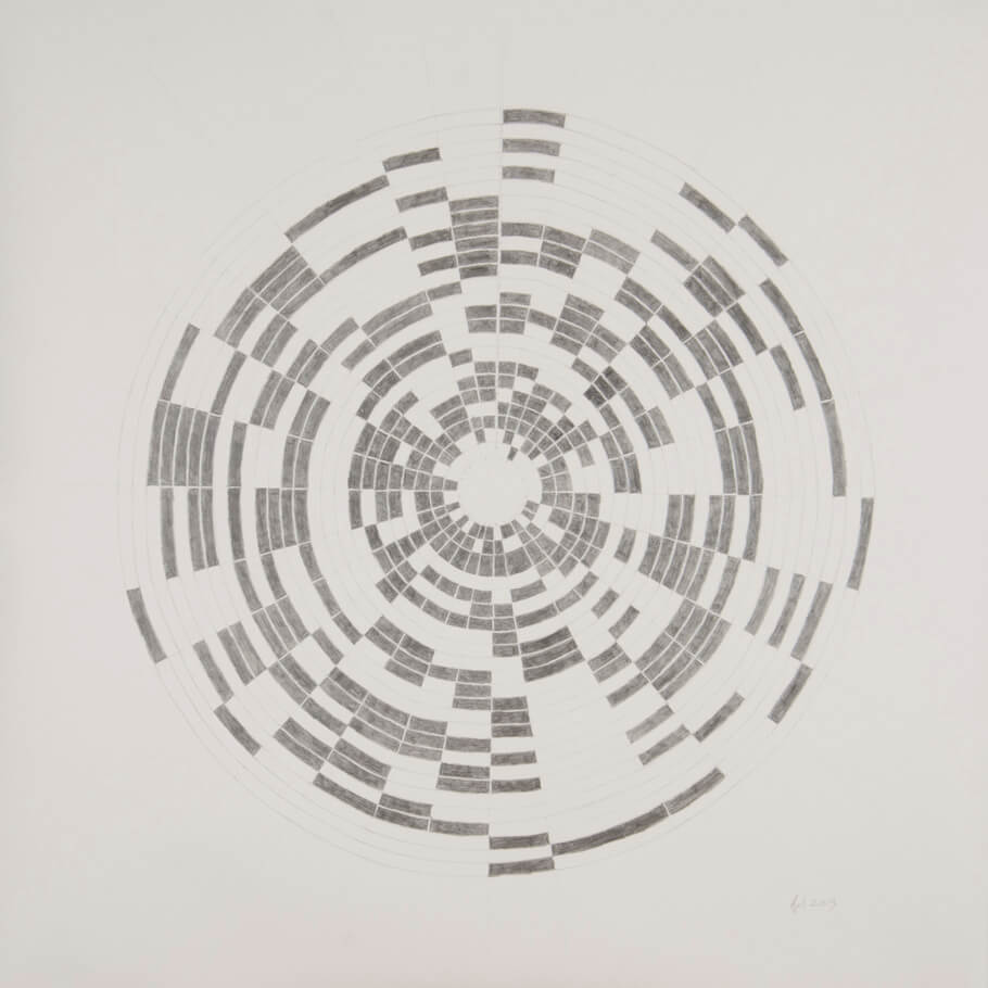 April 2013   graphite on paper, 42 x 42 inches, 2013