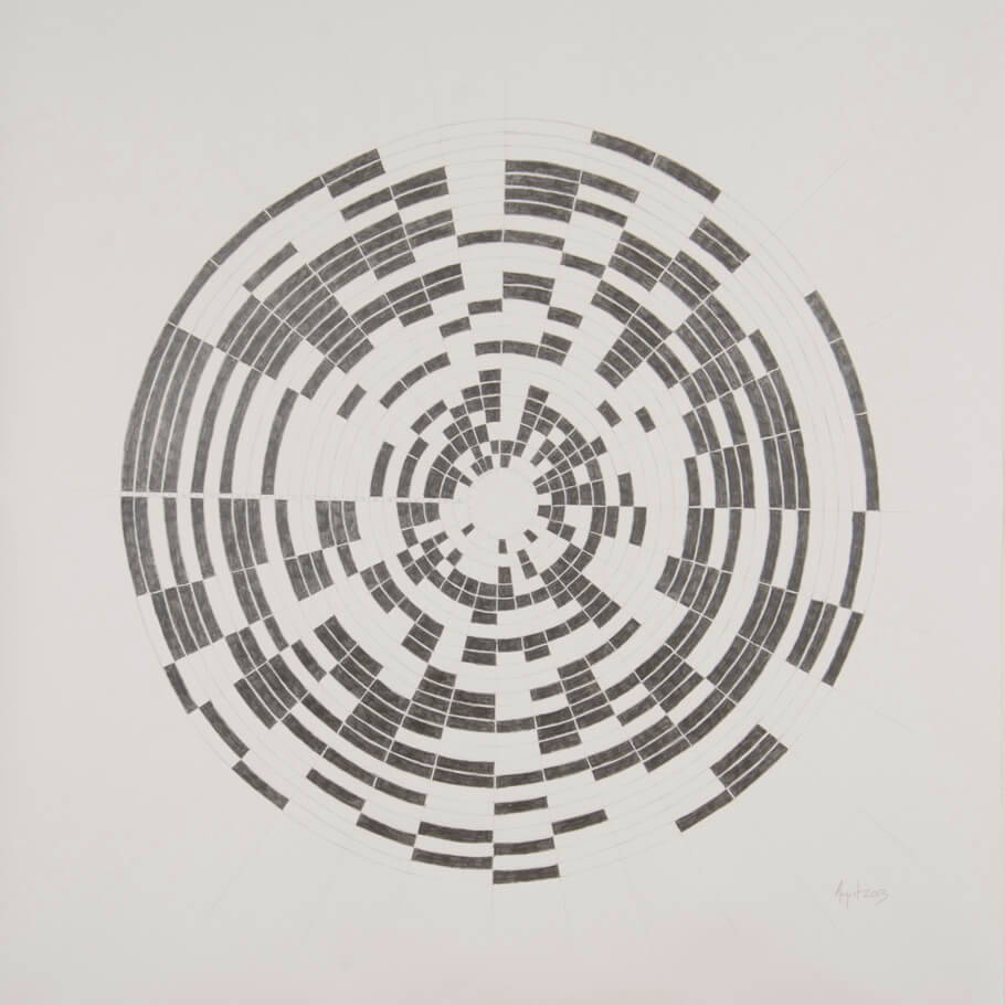 August 2013   graphite on paper, 42 x 42 inches, 2013