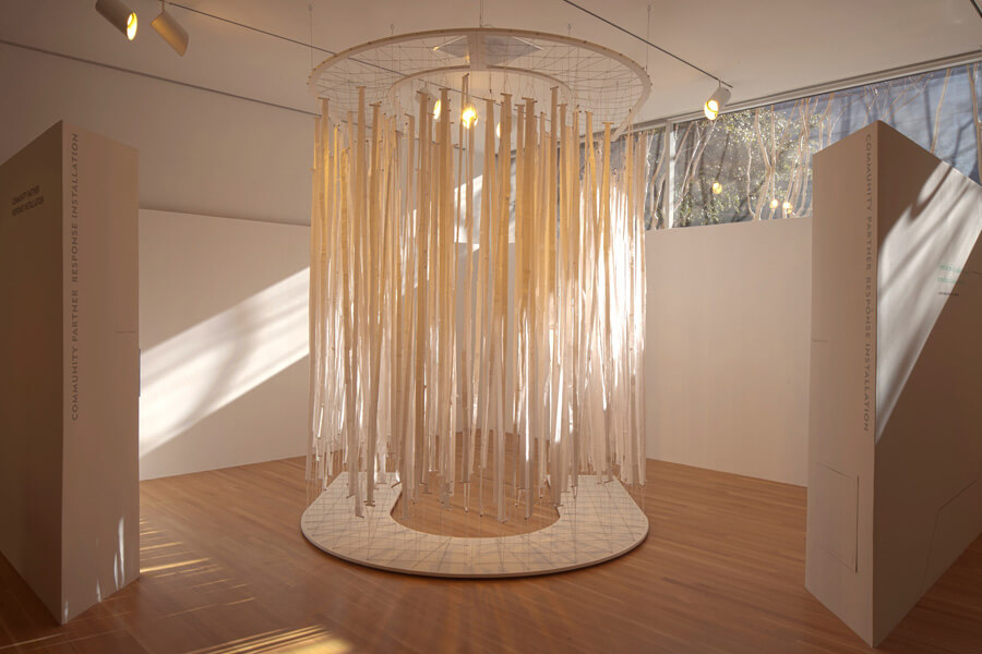Accumulation Project C3 DMA   paper, tape, wire, wood, string,  dimensions variable, 2011-2012