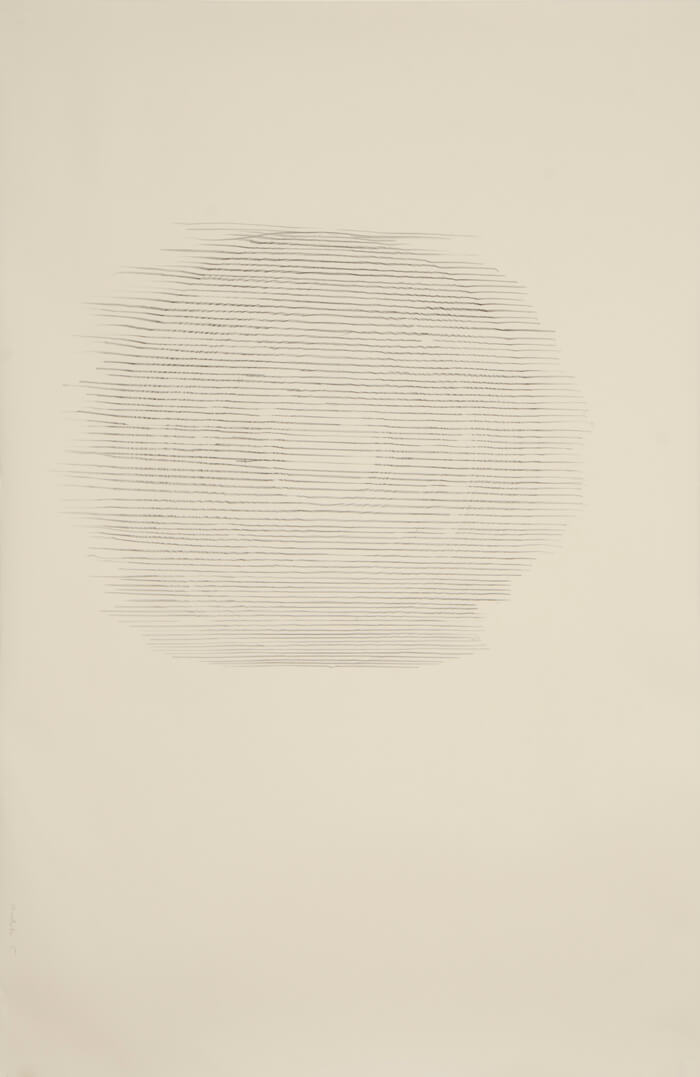 Paper Reel Rubbing V   graphite on paper, 40 x 26 inches, 2010