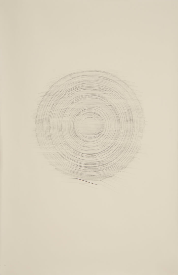 Paper Reel Rubbing L   graphite on paper, 40 x 26 inches, 2010