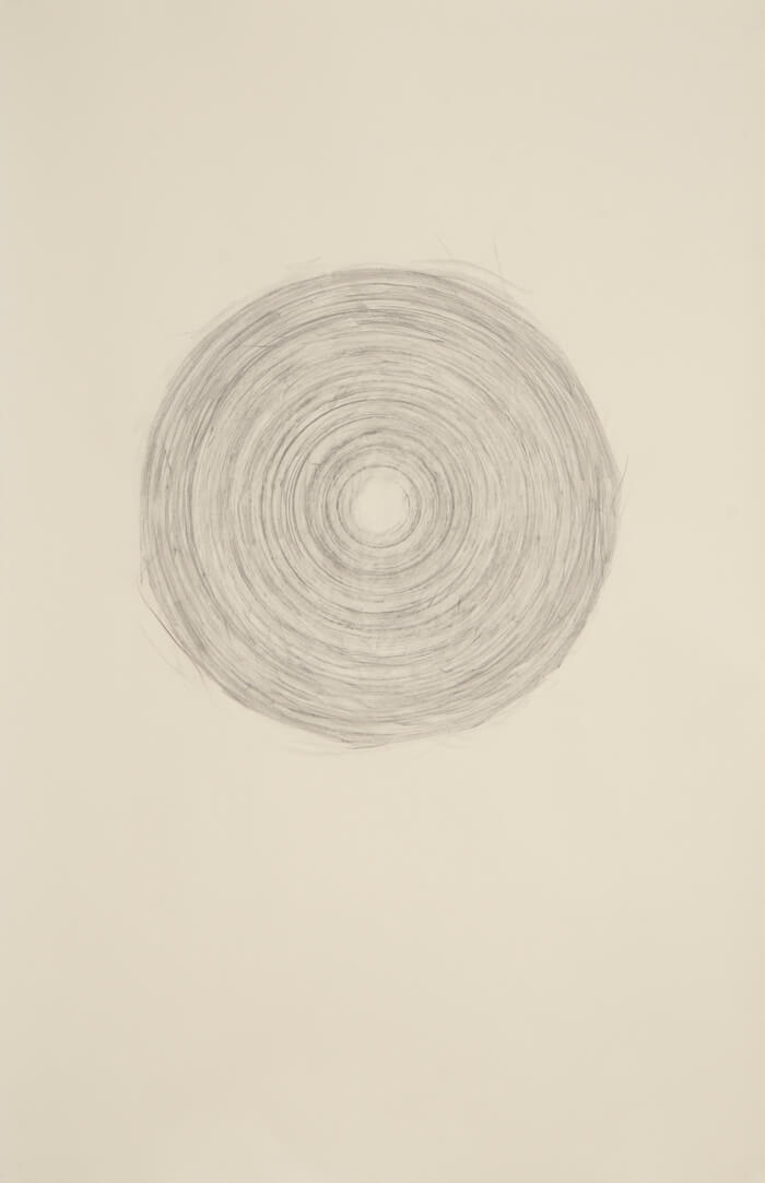 Paper Reel Rubbing R   graphite on paper, 40 x 26 inches, 2010