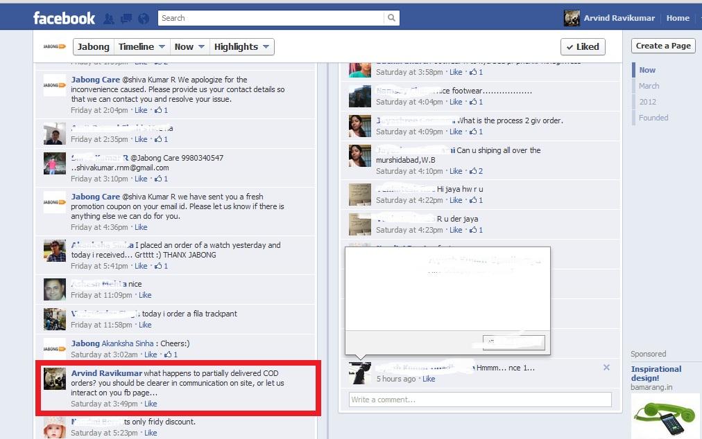 Jabong-facebook-talk