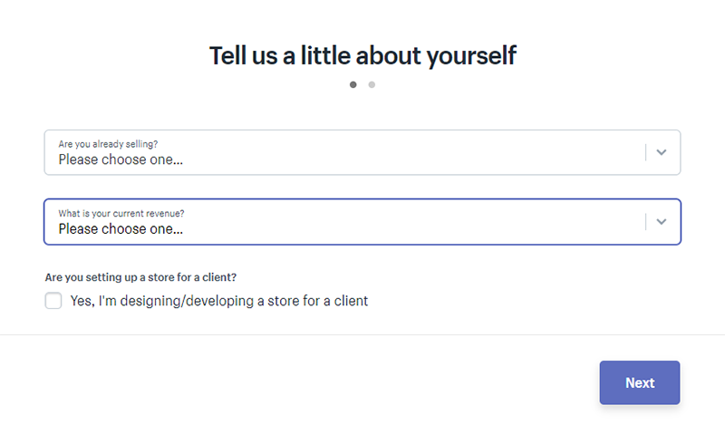 Shopify About Yourself Next