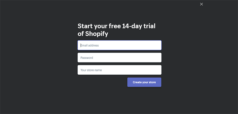 Shopify Email Password Store Input