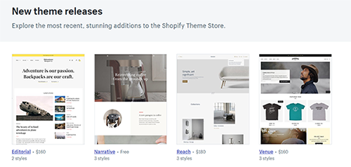 Shopify Browse Through Theme