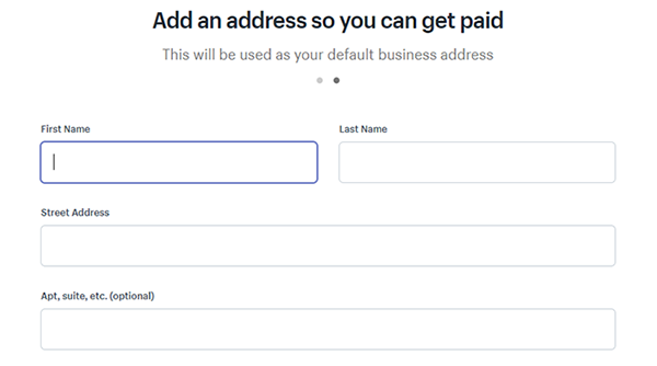 Shopify Add Business Address