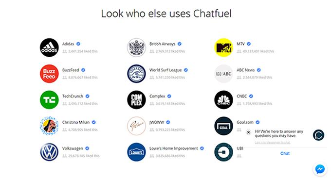 Chatfuel Screenshot