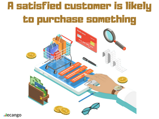 Customer Mobile Shopping Visual