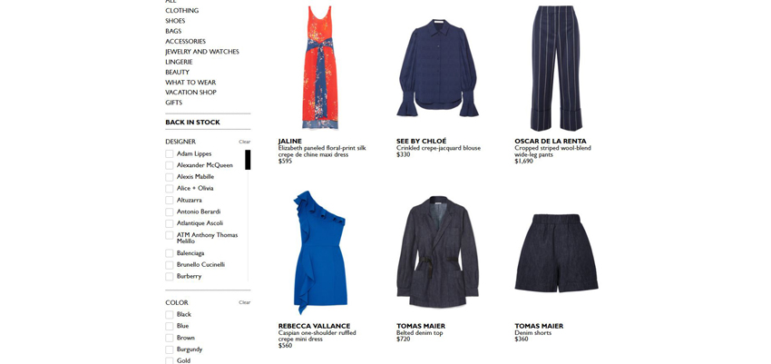 Net-A-Porter Product Page