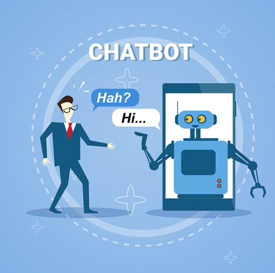 Chatbot Says Hi -Illustration