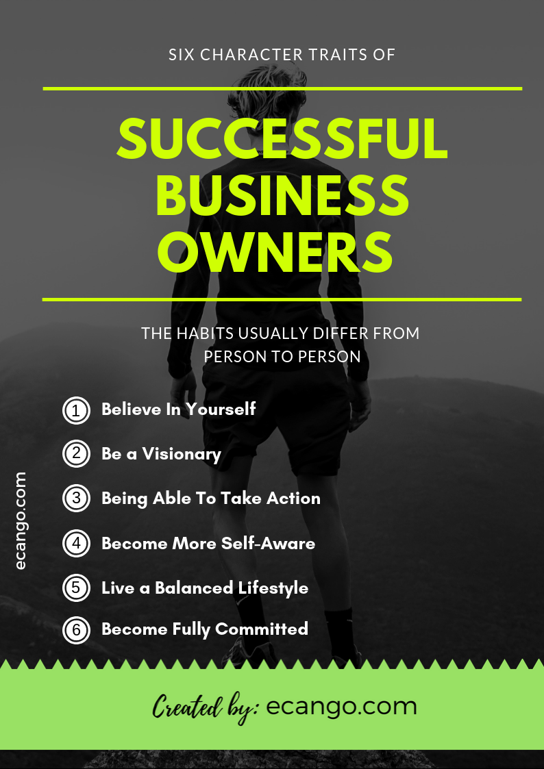 Six Character Traits of Successful Business Owners