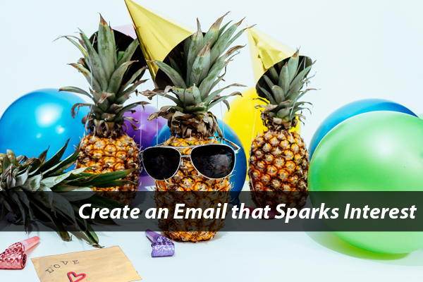 Pineapple and email on table
