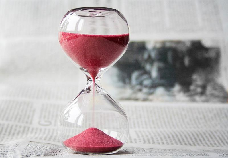 Sand clock -timing
