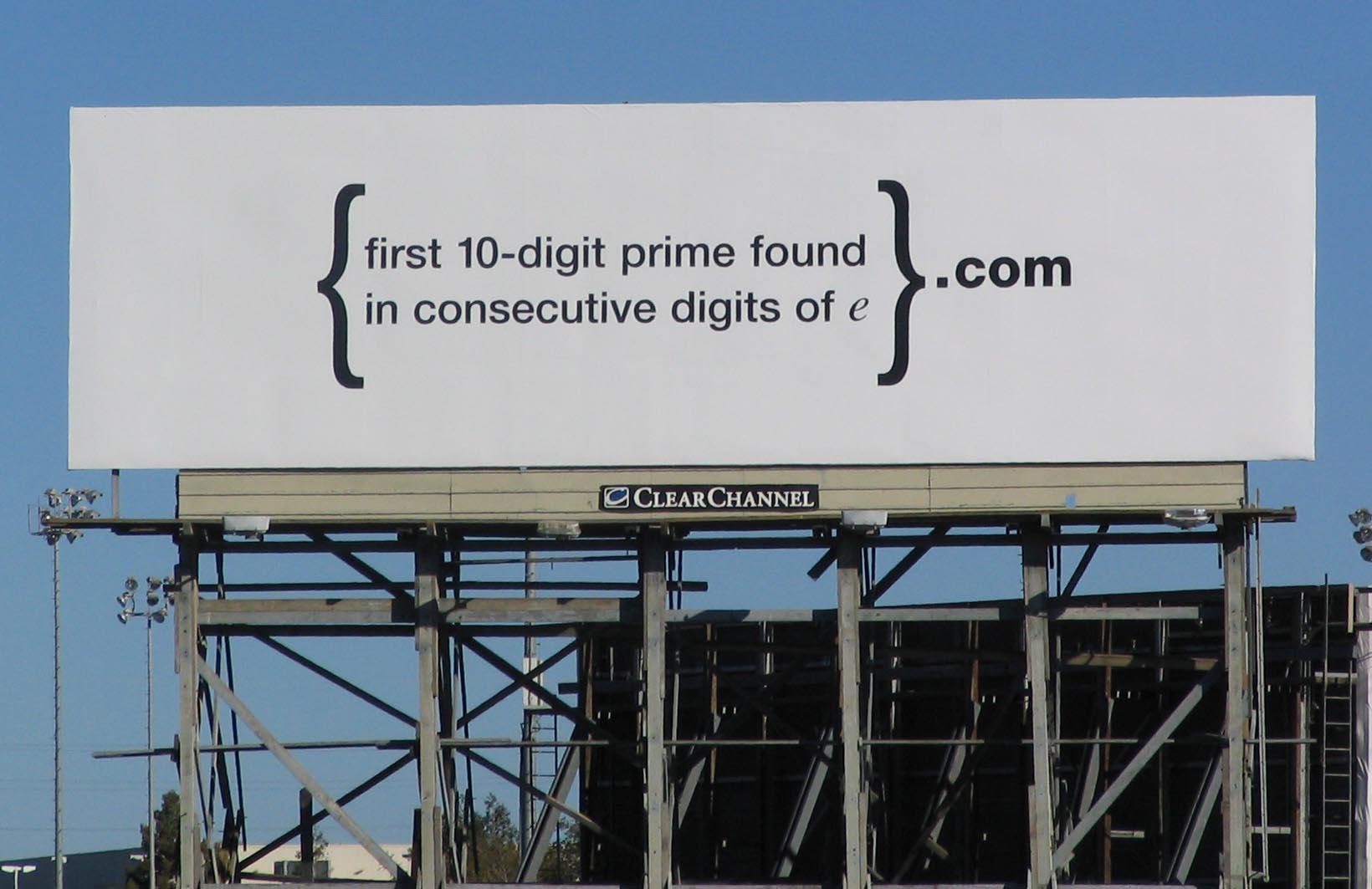 Google Billboard Puzzle
