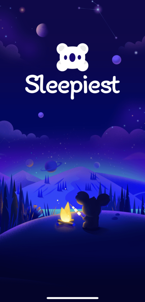 Sleepiest App homepage screenshot from iphone