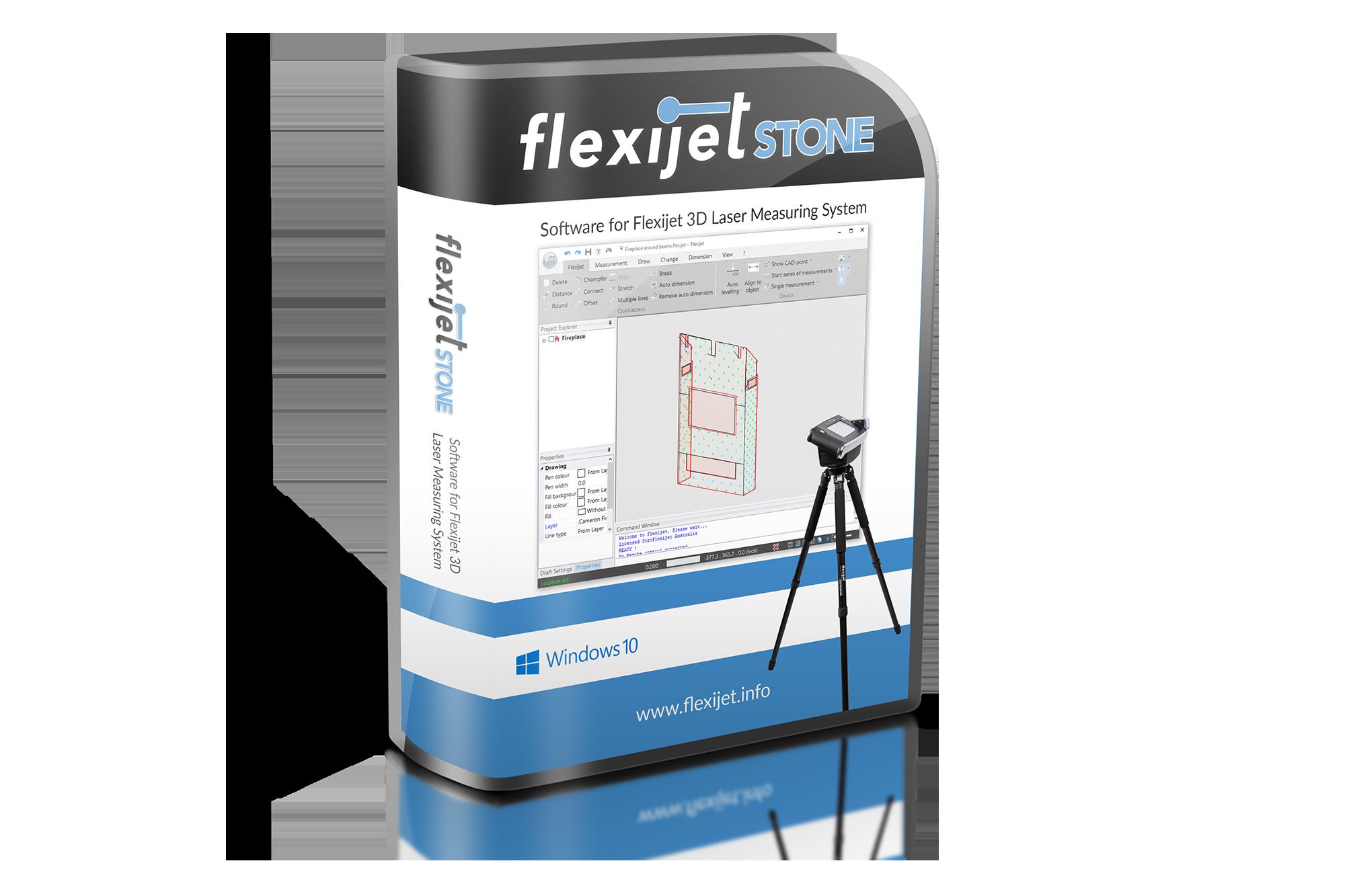 Illustrative image of package for Flexijet STONE software.