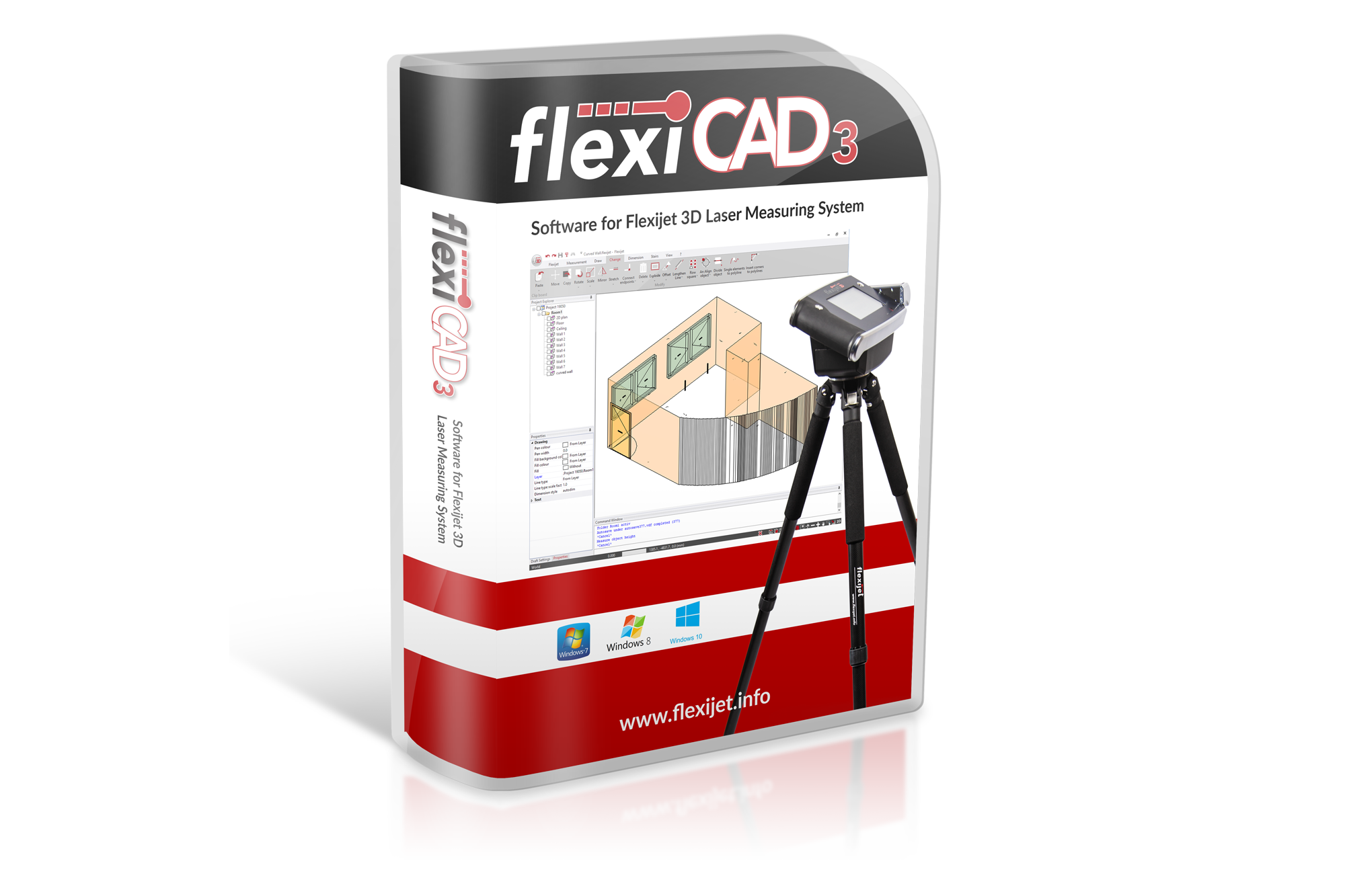 Illustrative image of package for FlexiCAD software.