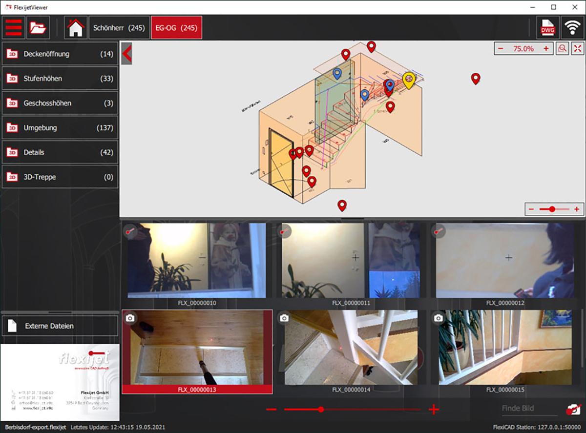 Image of Flexijet Viewer interface.