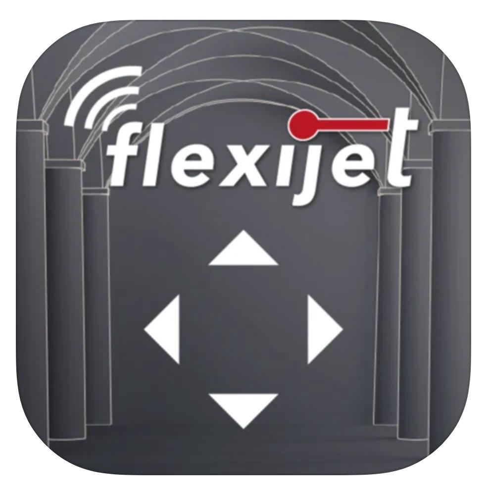 Flexijet SMart Remote App logo image.