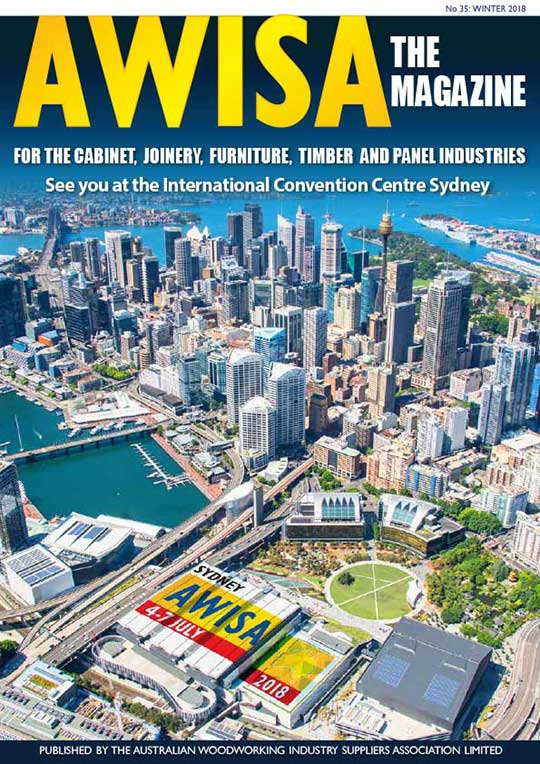 Front cover image of the AWISA magazine Issue 35.