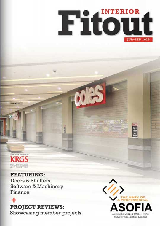 Front cover image of Interior Fitout magazine September 2019 issue.
