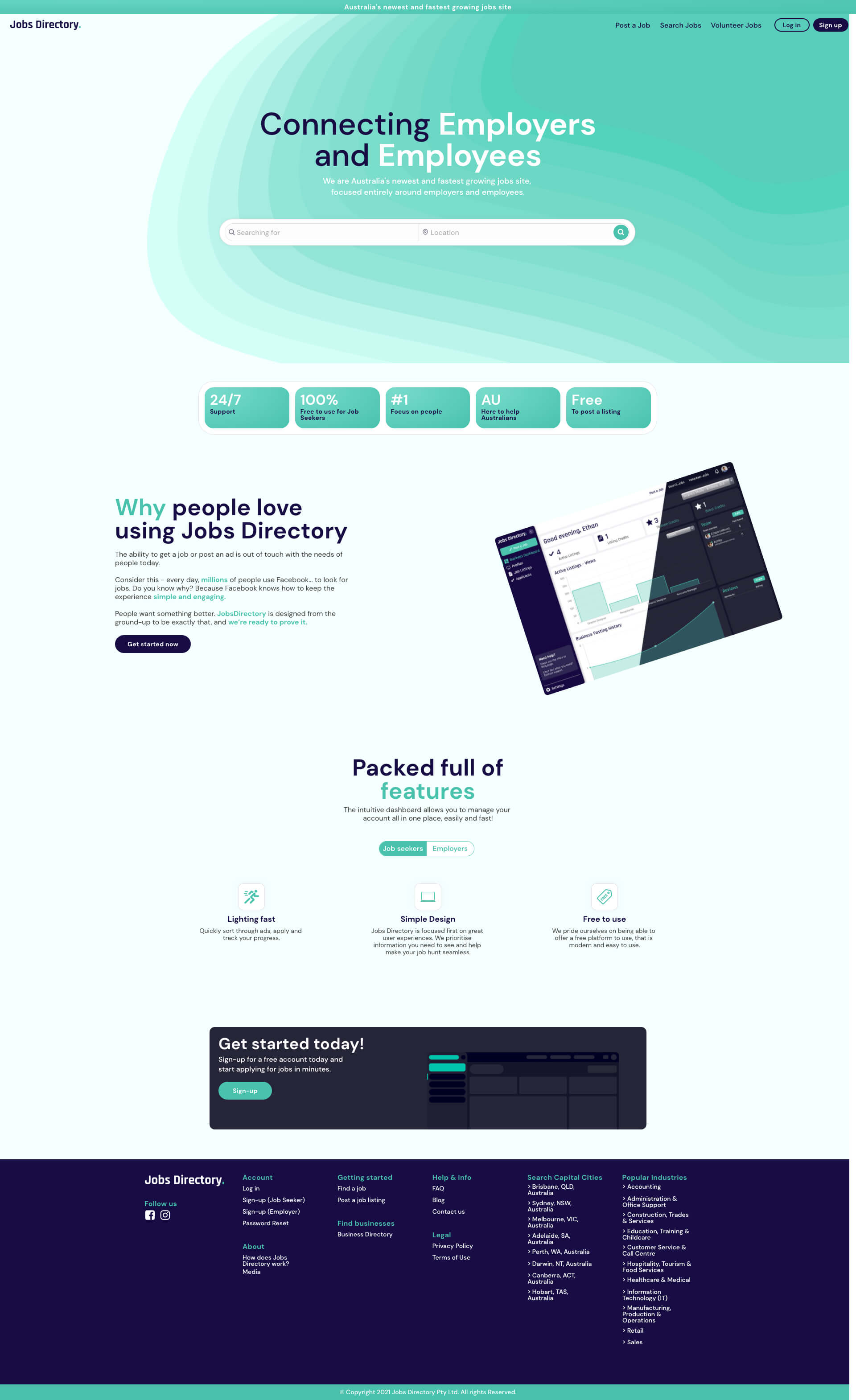 Jobs Directory Homepage