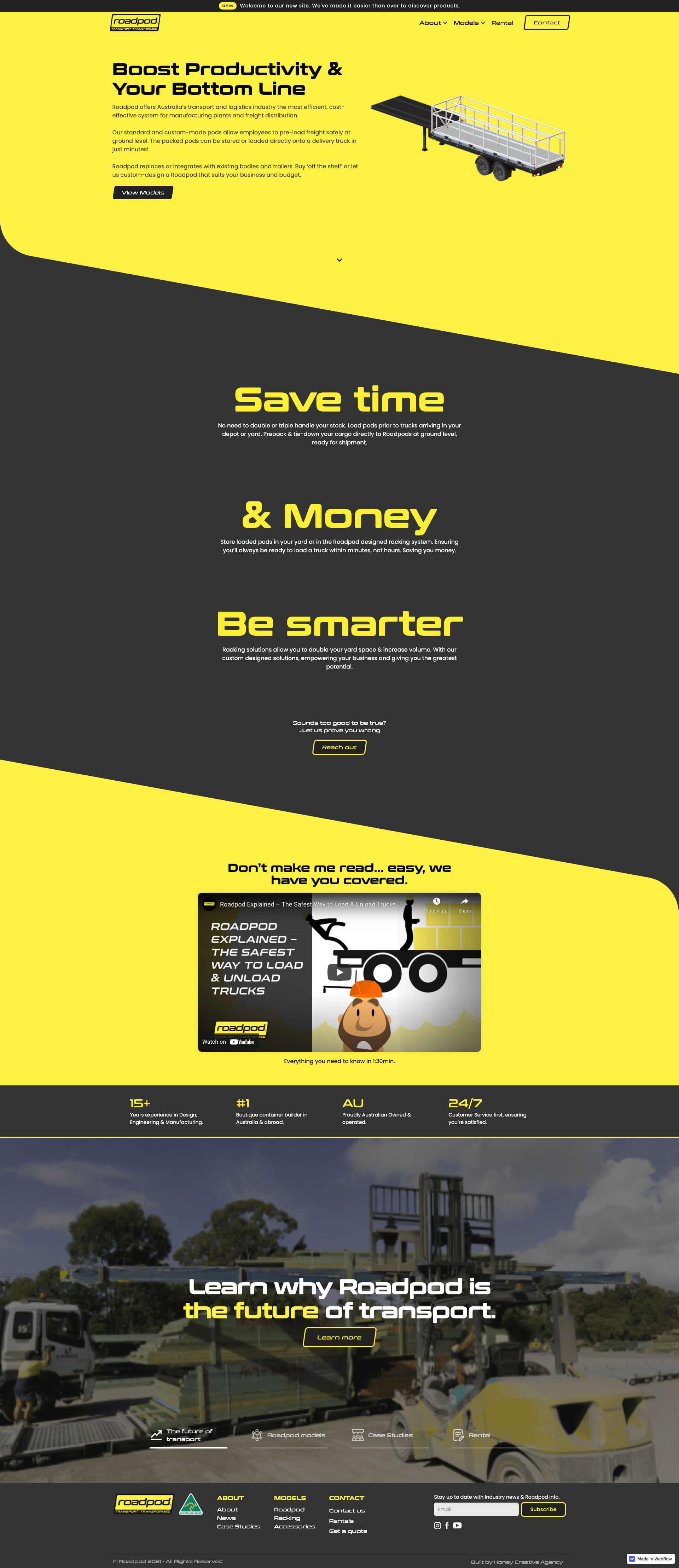 Roadpod Homepage