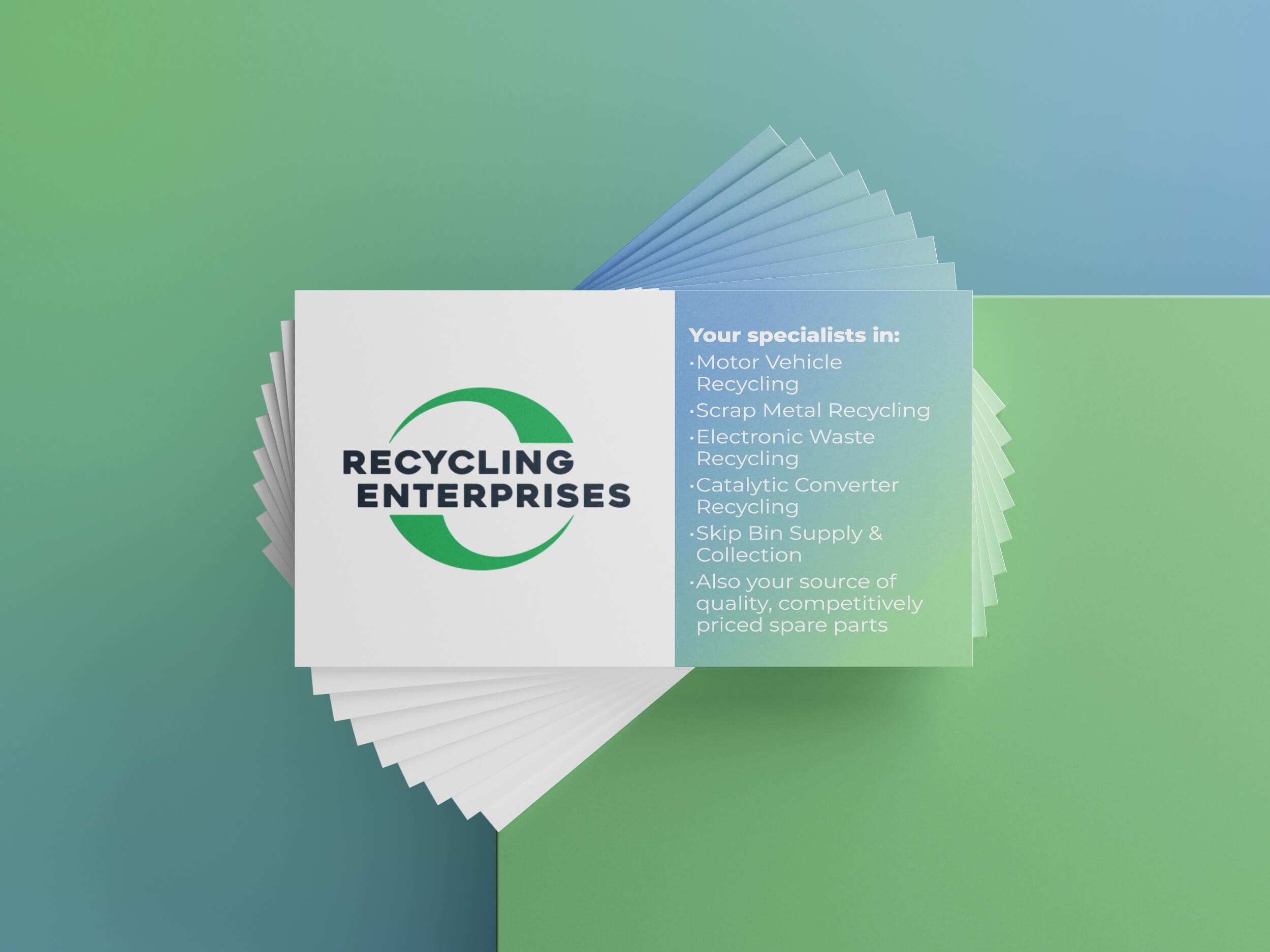 Recycling Enterprises Business Cards