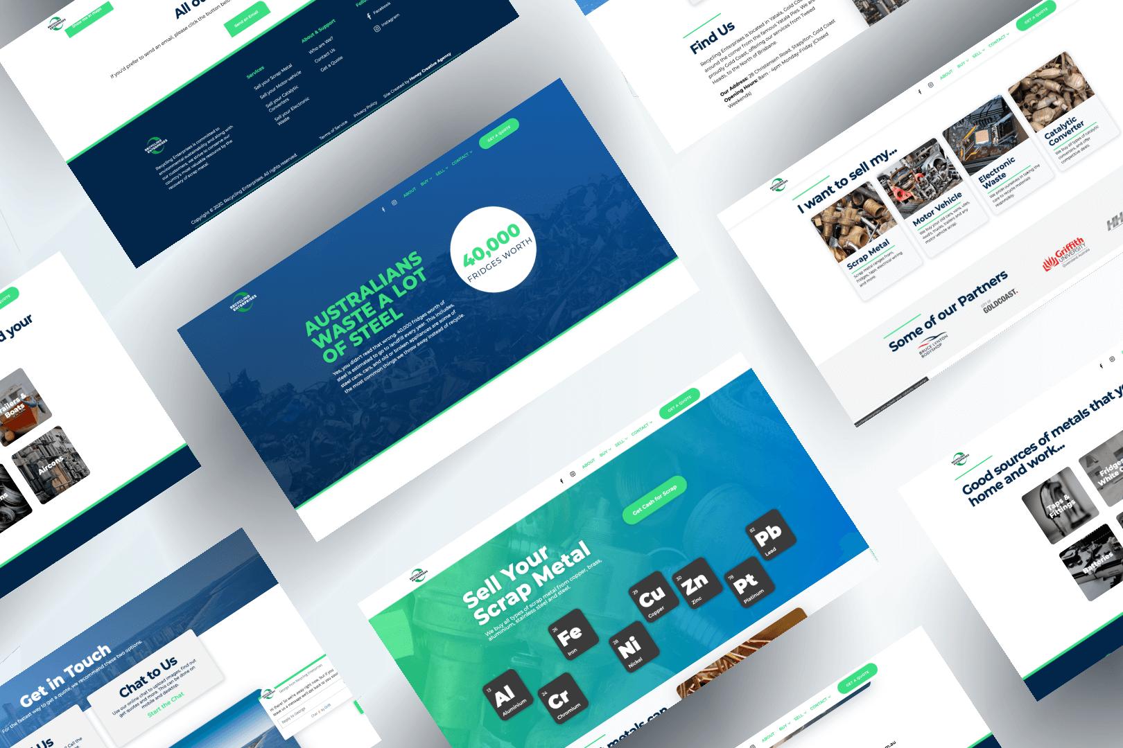 Recycling Enterprises Website Design
