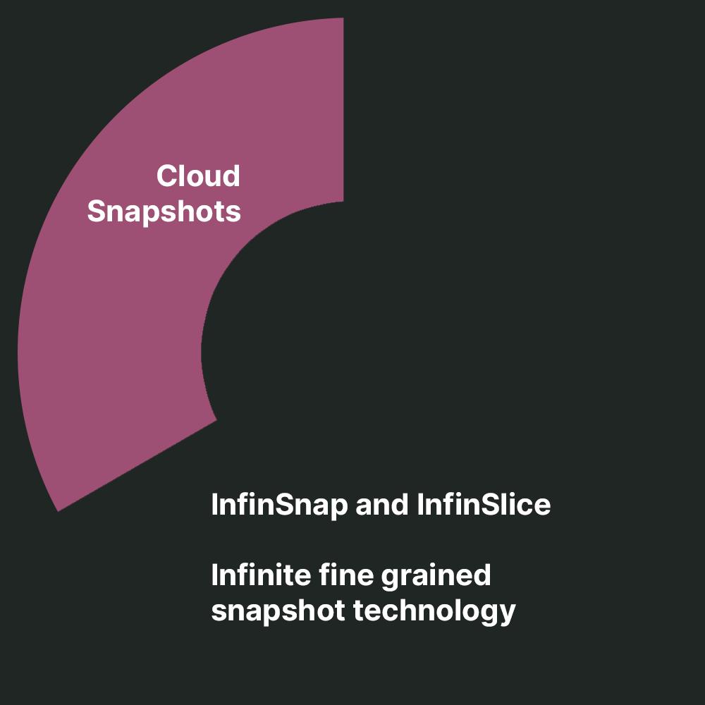 InfinStor storage solutions include InfinSnap and InfinSlice.