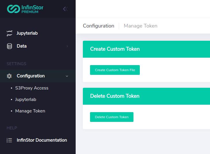 InfinStor MLflow Authentication Screenshot