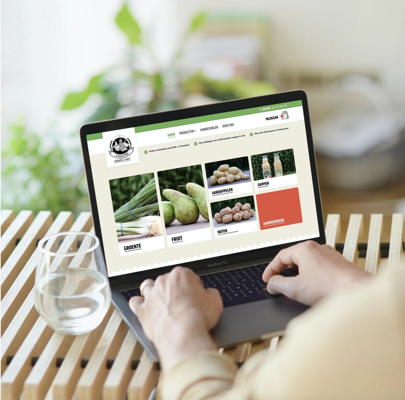 Groente en fruit webshop
