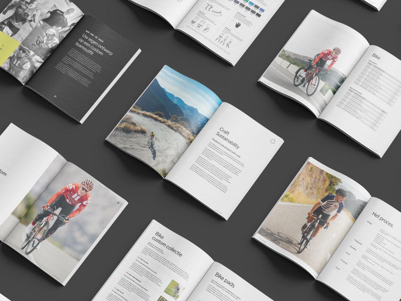 Ontwerp folder sport