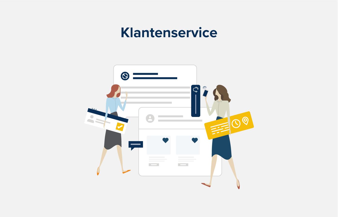 illustratie klantenservice