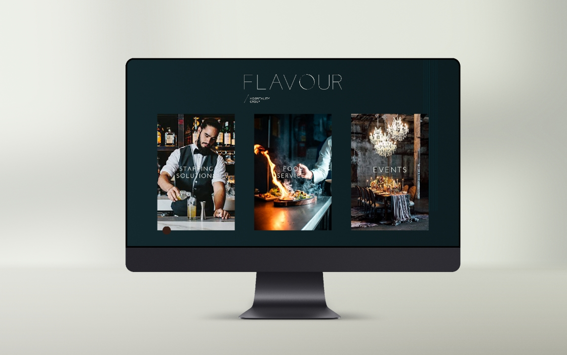 web design for flavour hospitality by chapters design