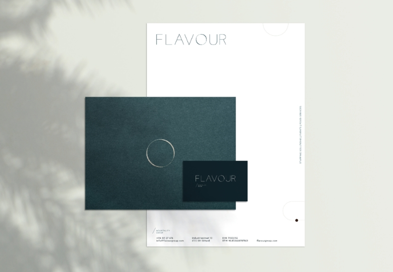 stationary design for flavour hospitality by chapters design