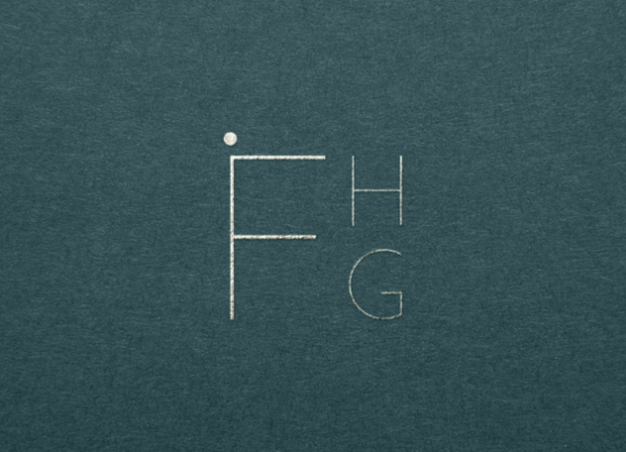 FHG letter monogram on green background for flavour hospitality by chapters design
