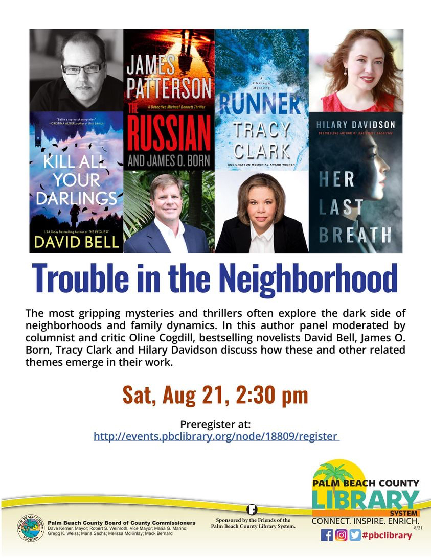 Speaking event at Palm Beach County Library online