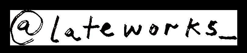 Late Works Instagram handle logo