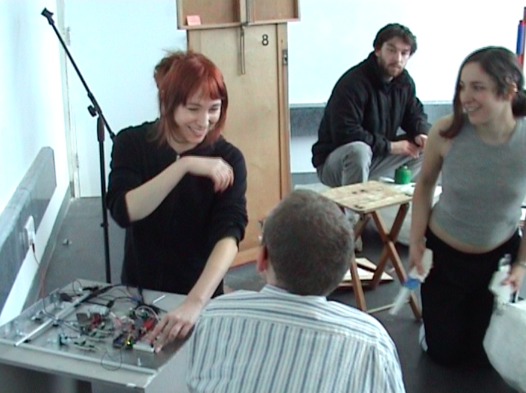 Bianca Scout, Cam Molloy, Elena Isolini & j. b. glazer in the studio recording on the instruments for Late Works: of Noise