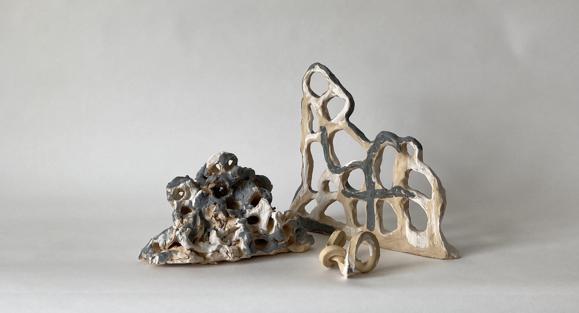 Ellie Redfern, Jessica Parnell & Gareth Barker's ceramics from Late Works SLIP.