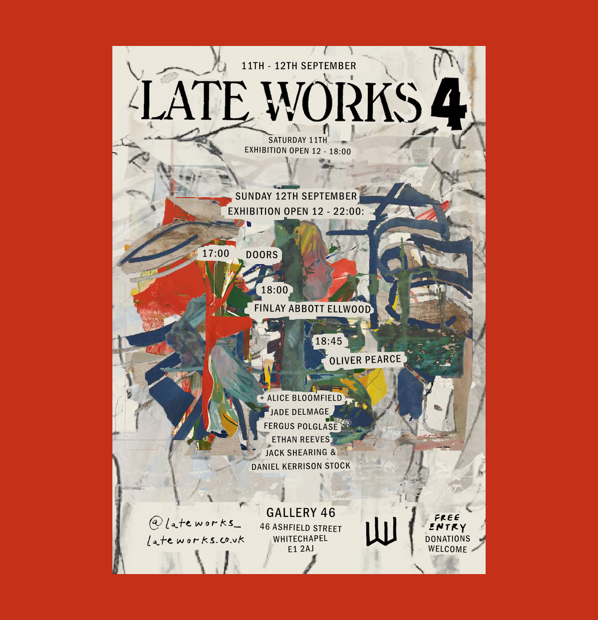 Poster for Late Works 4 on 11th-12th September 2021 at Gallery 46.